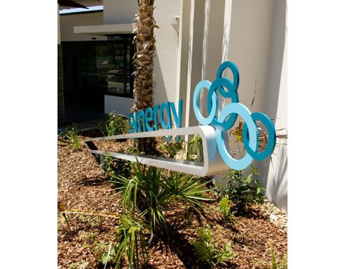 Modern & conceptual wayfinding signage solutions http://www.spec-net.com.au/press/0310/wwd_310310.htm #modern #architecture #signage #conceptual