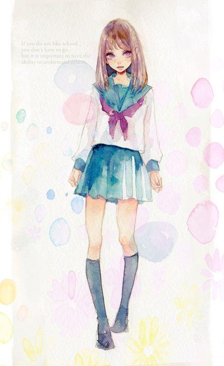 「セーラー服」/「miya」のイラスト [pixiv]