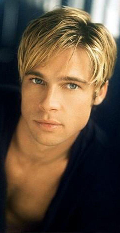 Brad Pitt he's so beautiful. Love his voice  too