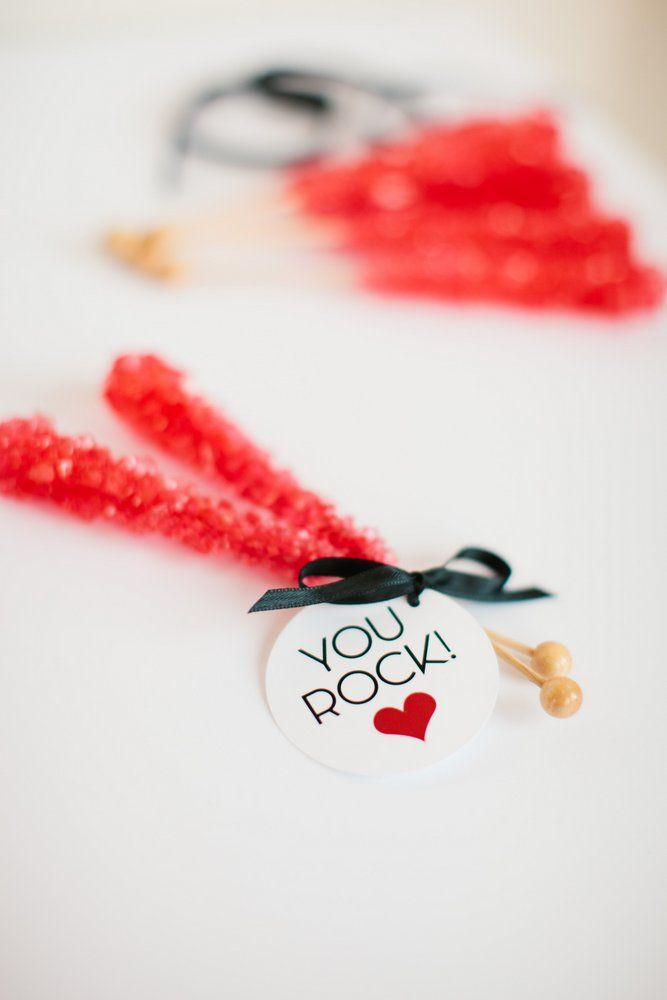 Free Printable YOU ROCK Valentine's Day Tags designed by The TomKat Studio for DIY Network #freeprintables #valentinesday