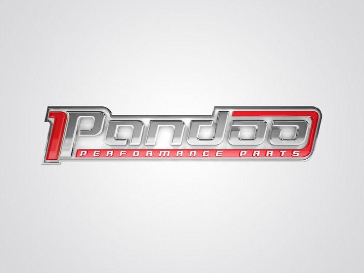 Logotipo Pandoo Performance Parts. Criação: Rafael Okubara.