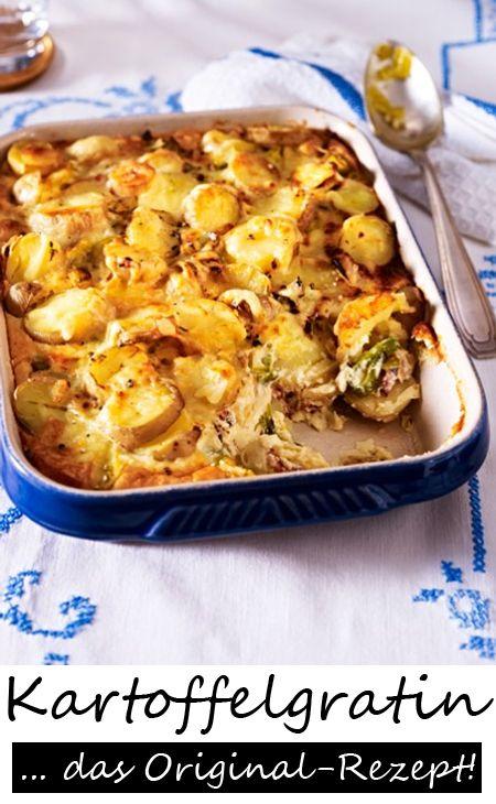 Kartoffelgratin mit Lauch und Speck - LECKER! Hier geht's ZUM ORIGINAL-REZEPT >>>