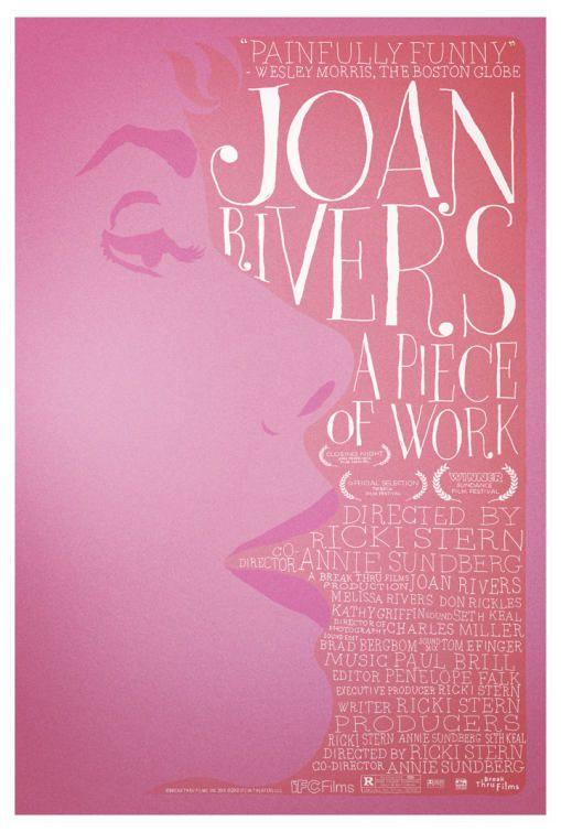 ジョーンリバース:作業の映画のポスターの作品
