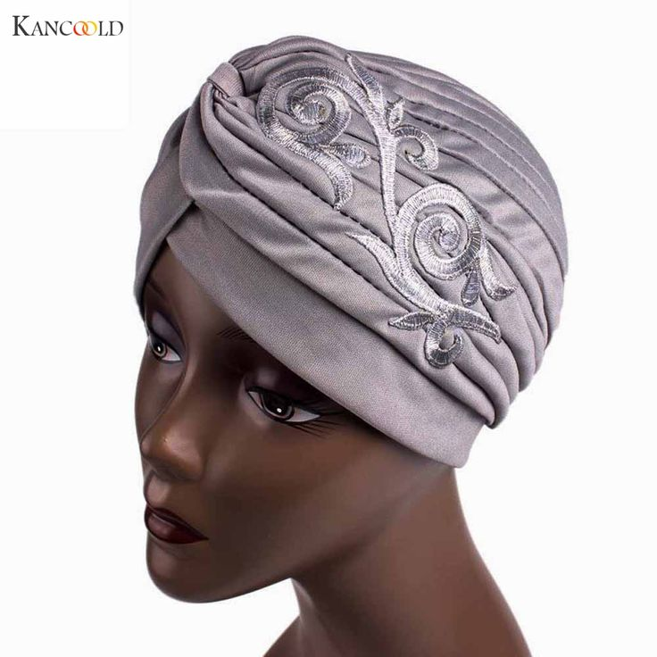 2017 Women Hat Beanie Scarf Turban Head Wrap Keep Warm caps Embroidery Muslim cap mujer Hats for Women Cancer Chemo Beanies JY4f #Affiliate