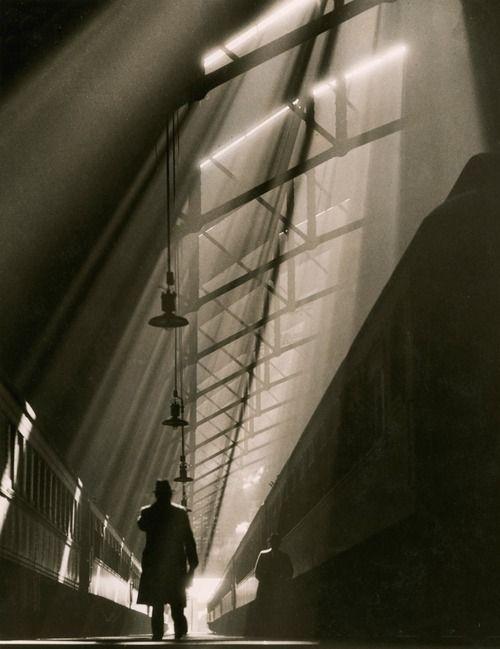 William M. Rittase A view of Chicago's historic La Salle Street train station, November 1936
