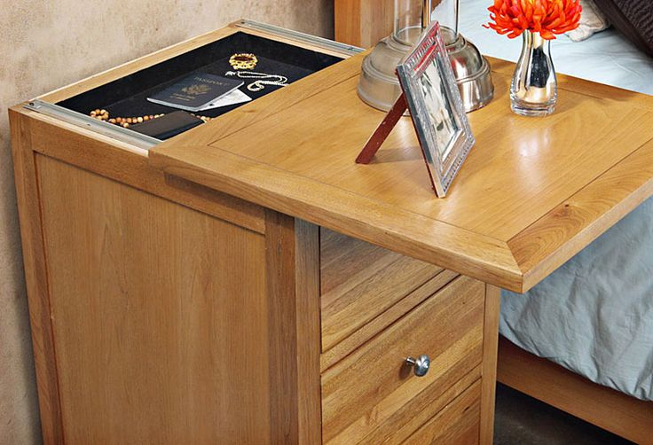 Nightstand plans with hidden compartment woodworking for Furniture w hidden compartments