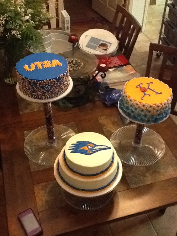 Utsa Graduation Cake Trio Cake Designs By Kyla