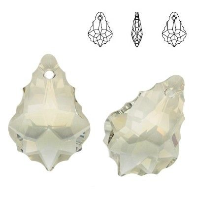6090 Baroque 22mm Crystal Silver Shade  Dimensions: 22,0 mm Colour: Crystal Silver Shade ( Crystal SSHA ) 1 package = 1 piece