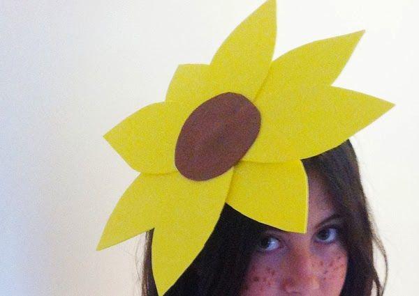 DIY sunflower costume. Disfraz casero de girasol http://manualidades.euroresidentes.com/2014/03/como-hacer-un-disfraz-de-girasol.html