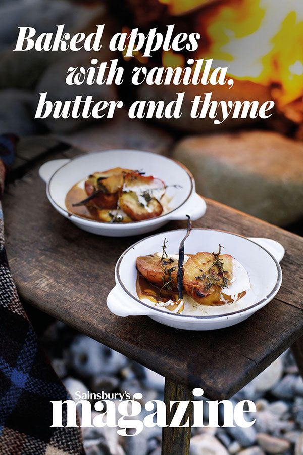 Cook these deliciously tender baked apples over fire for the ultimate bonfire night winter-warmer