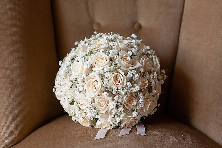 Bouquet di rose e gypsophila | Wedding bouquet with roses and baby's breath | #pink