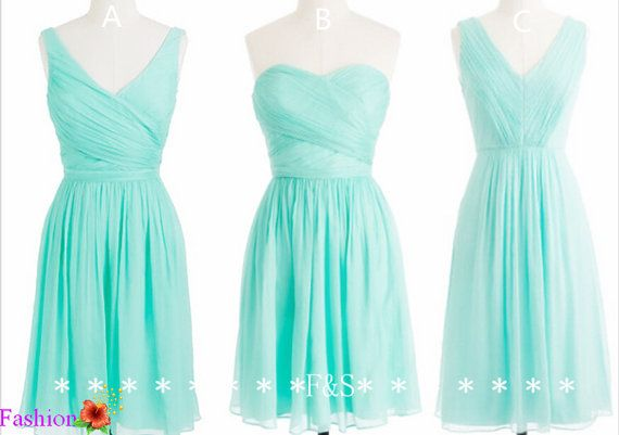 Hey, I found this really awesome Etsy listing at https://www.etsy.com/listing/190849528/short-mint-bridesmaid-dress-sexy-v-neck