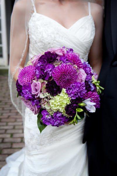 Erin Volante Floral: Plum, eggplant, fuchsia, PURPLE wedding flowers!