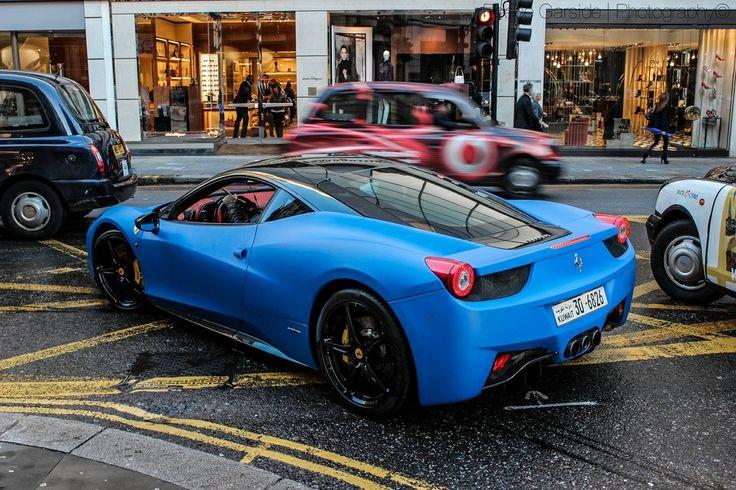 Matte Blue Ferrari 458 Italia Cars And Motorcycles