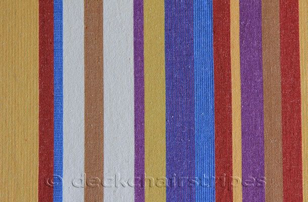 apricot, rust, blue, off white, cinnamon, and purple stripes curtain and blind fabric