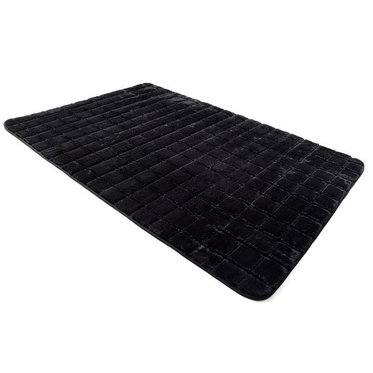 Miękkie dywany w kolorze czarnym
