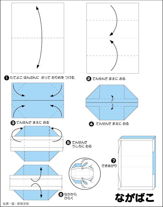 折り紙・しんぶんし|折り図