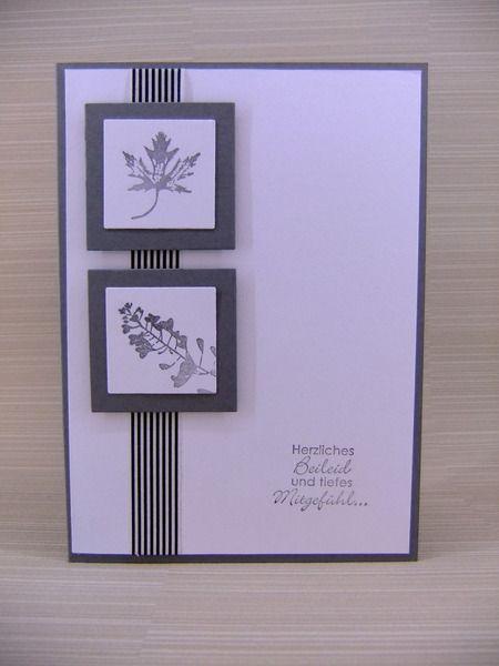 Trauerkarte Beileidskarte von Stempelfee auf DaWanda.com