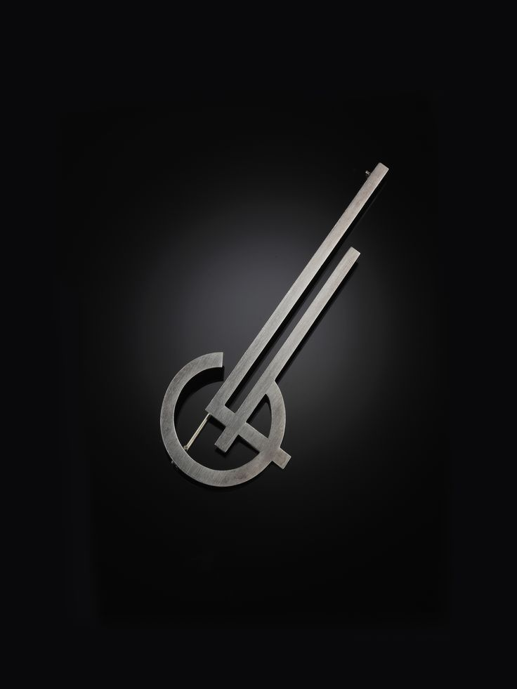 WIWEN NILSSON. BROSCH, silver, monogram CF. Signerad Wiwen Nilsson, stämplad AN, Lund 1939.
