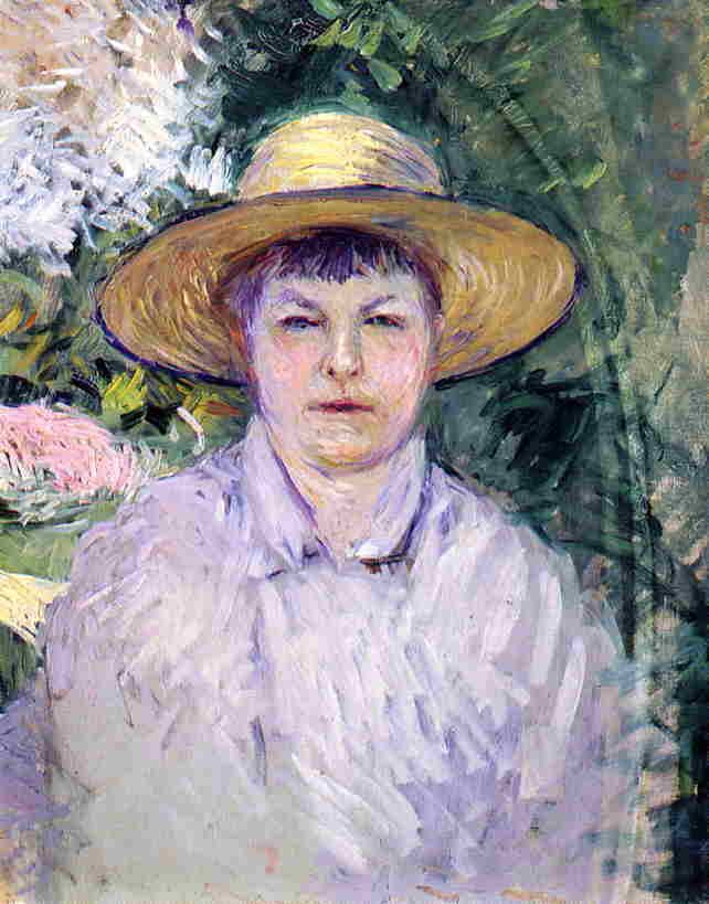 Gustave Caillebotte, Portrait of Madame Renoir, 1888