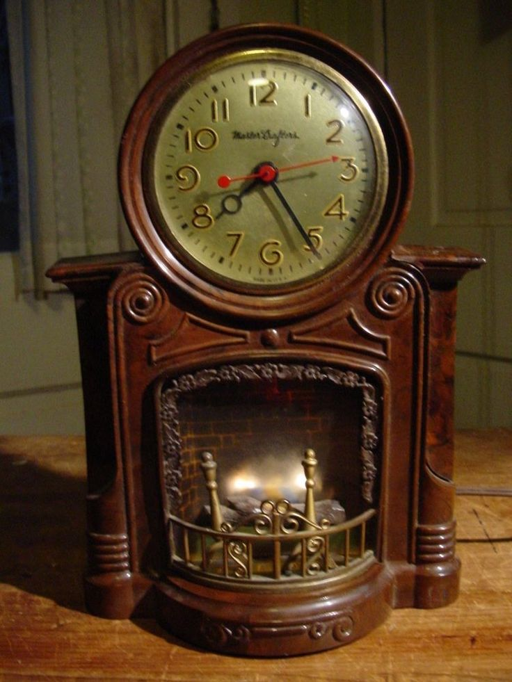 16 50 Vintage Mastercrafters Fireplace Motion Clock No