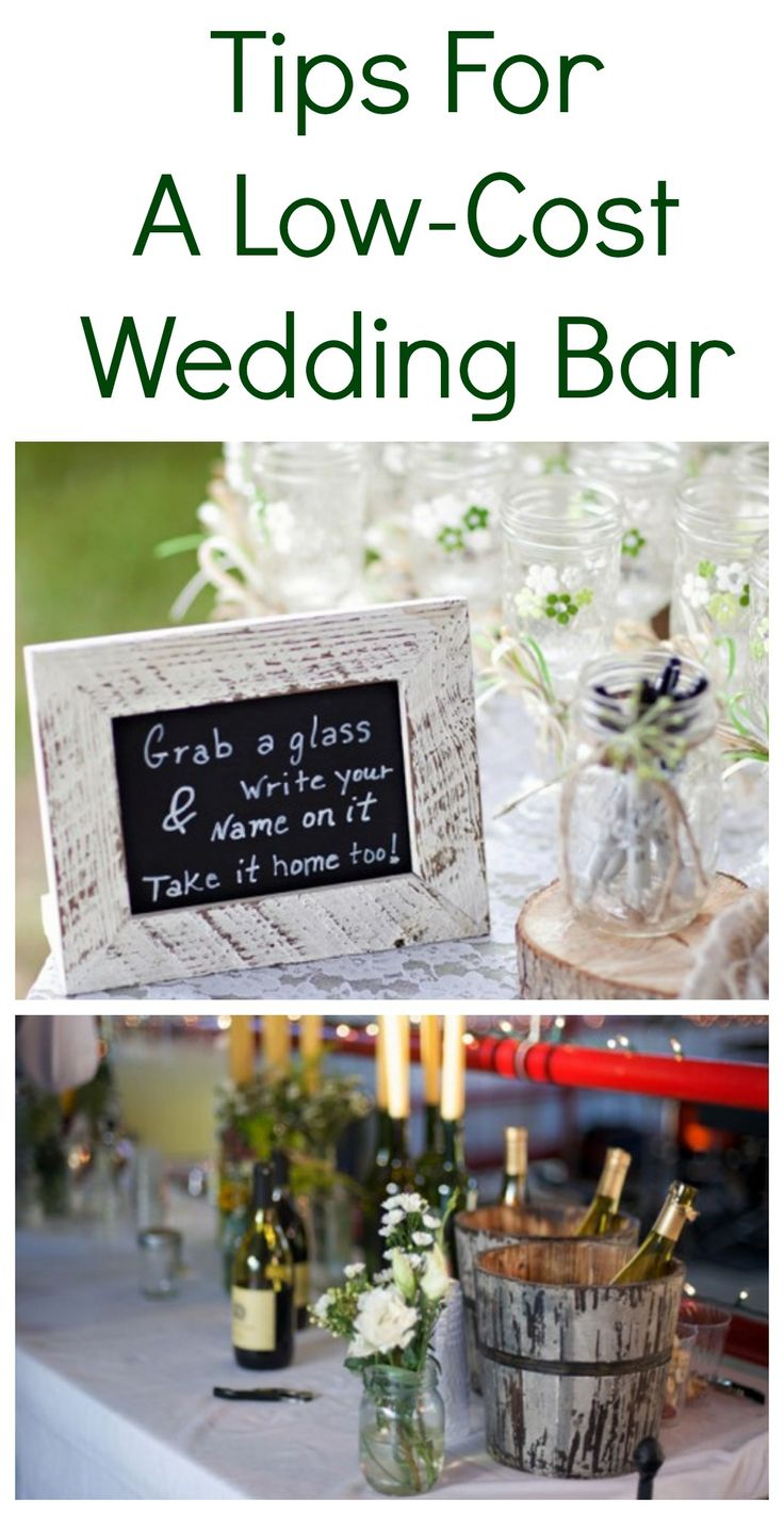 Tips for cutting your wedding budget and a low-cost wedding bar! Boom! Favor and glass in 1!