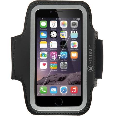 Minisuit SPORTY Armband + Key Holder for iPhone7 6, 6S Black