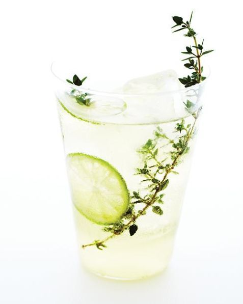 Winter Thyme & Key Lime Cocktail