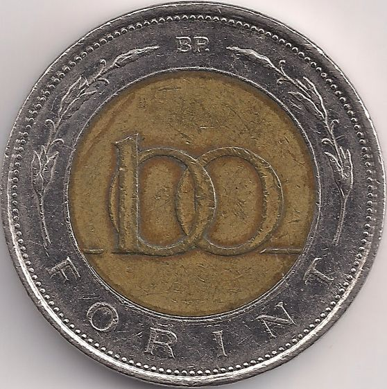 Wertseite: Münze-Europa-Mitteleuropa-Ungarn-Forint-100.00-1996-2011