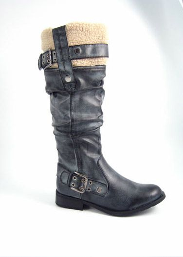 Long biker boots at an outstanding price of £12.99.
