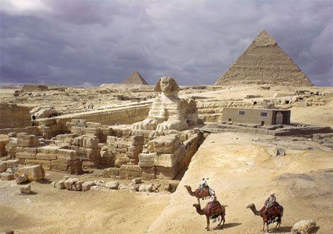 Admire the pyramids in Egypt.