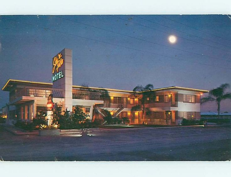 Used Cars Tampa Fl >> 1950's STA 'N PLA MOTEL Clearwater Beach Florida FL s8907 | Vintage Vacations | Pinterest ...