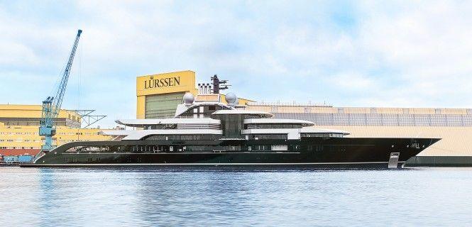 Lurssen Launched mega yacht Project Thunder