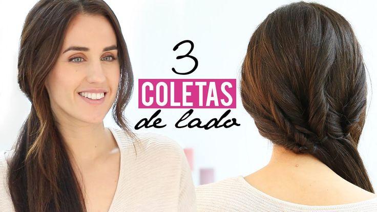 ♥ ♥ LÉEME / DESPLIEGAME ♥ ♥ 3 PEINADOS FÁCILES CON COLETAS DE LADO | PARA CADA DÍA Hoy os traigo un vídeo de peinados de coletas de lado muy fáciles de hacer...