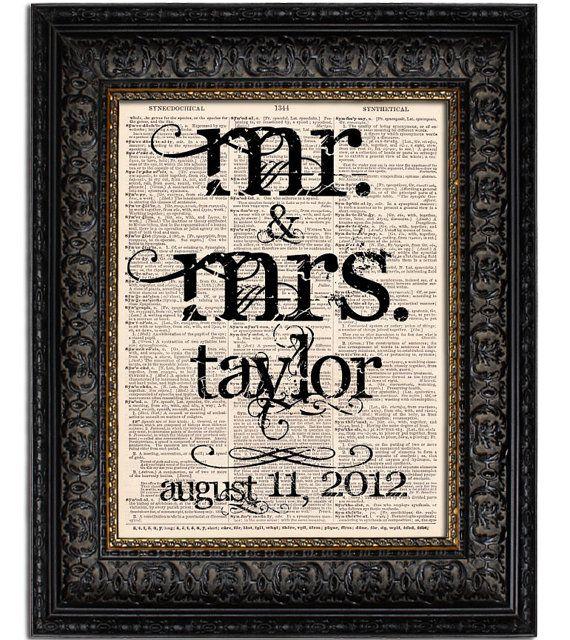 Wedding Gifts Mr And Mrs: Custom Wedding Gift MR MRS Last Name Wedding Date