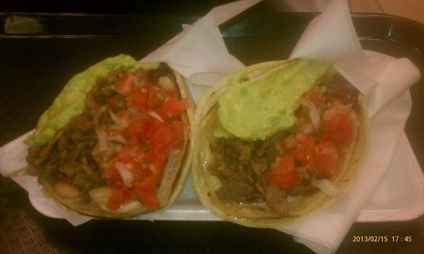Amazing carne asada tacos at Taco Taco in Las Vegas