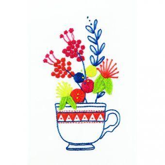 Srta. Lylo Taza de té rococó y flores - diseño
