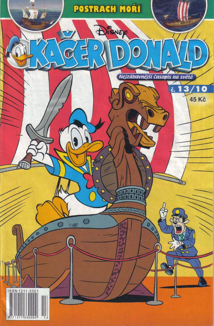 Czech Republic - Kacer Donald (Czech) Scanned image of comic book (© Disney) cover