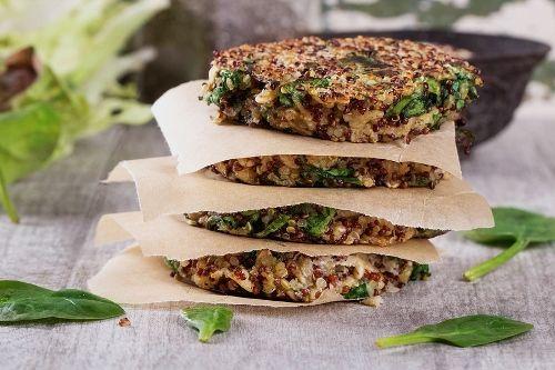 Τραγανά μπιφτεκάκια χωρίς γλουτένη απο κινόα, συνταγές για χορτοφάγους χωρίς γλουτένη