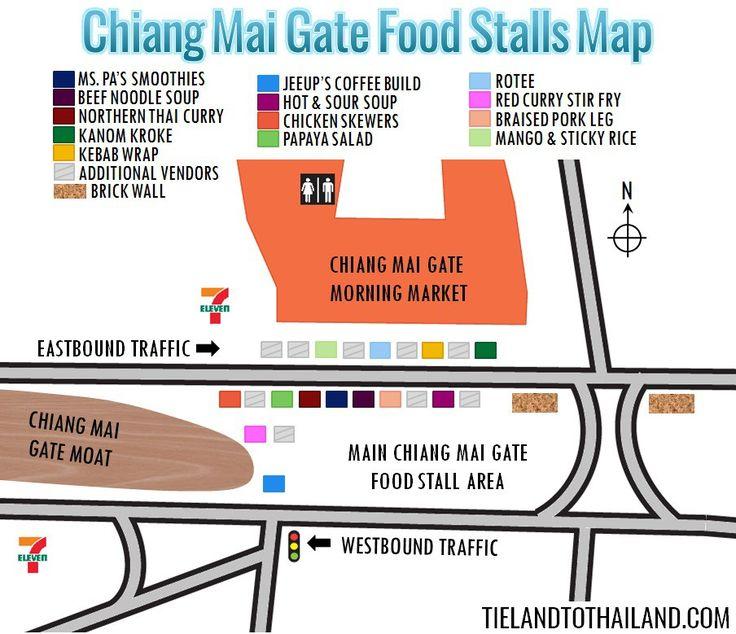 Chiang Mai Gate Food Stalls Map