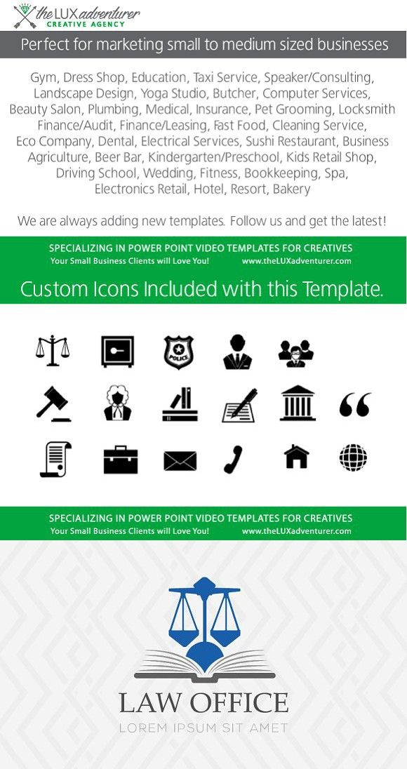 Law Office PowerPoint Video  PowerPoint Templates
