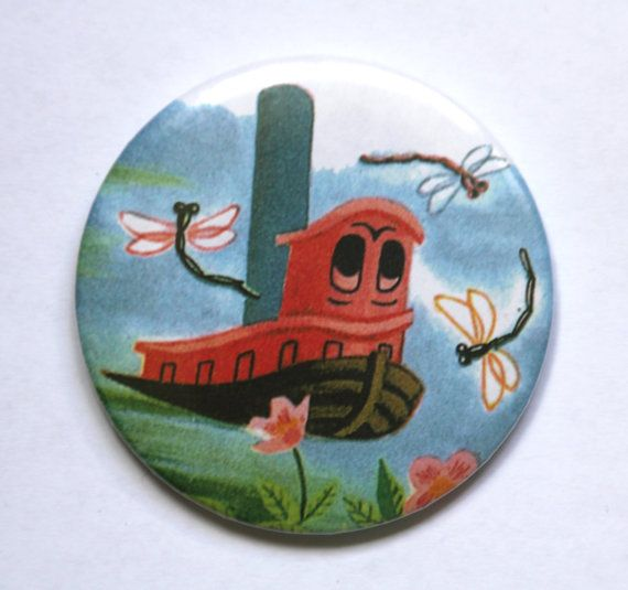 Scuffy the Tugboat Compact MIRROR Pocket Mirror by HarrysSuitcase