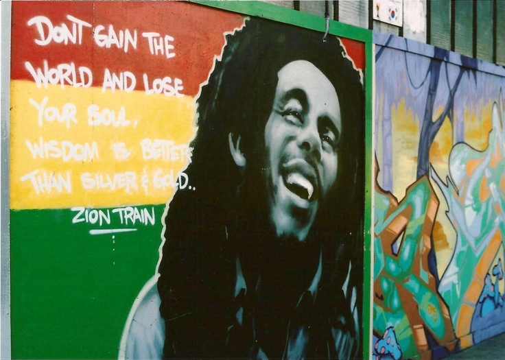 Took this on a street near haight ashbury in sf bob marley for Bob marley mural san francisco