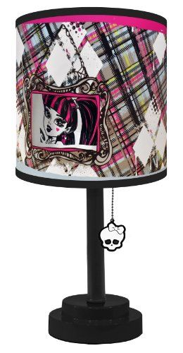 This Monster High bedside lamp is a great addition to any Monster High themed bedroom. It comes fully assembled and ready to use and features a unique Monster High design. The pull string switch ma...