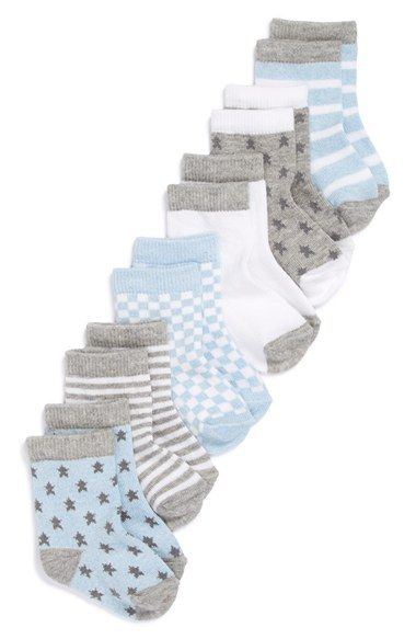 Nordstrom+Baby+Crew+Socks+(Baby)+(6-Pack)+available+at+#Nordstrom