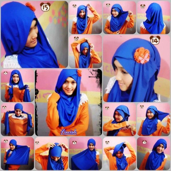 Latest Beautiful Hijab Styles Tutorial 2016-2017 Collection | StylesGap.com  Check out our hijab tutorial http://www.lissomecollection.co.uk