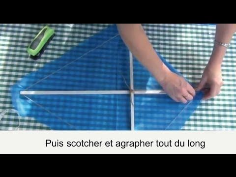 Comment fabriquer un cerf volant simple - YouTube