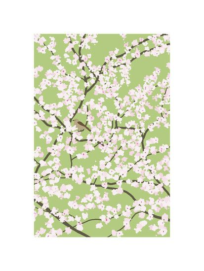 Plum Tree with Birds in Spring by Jorey Hurley for Minted