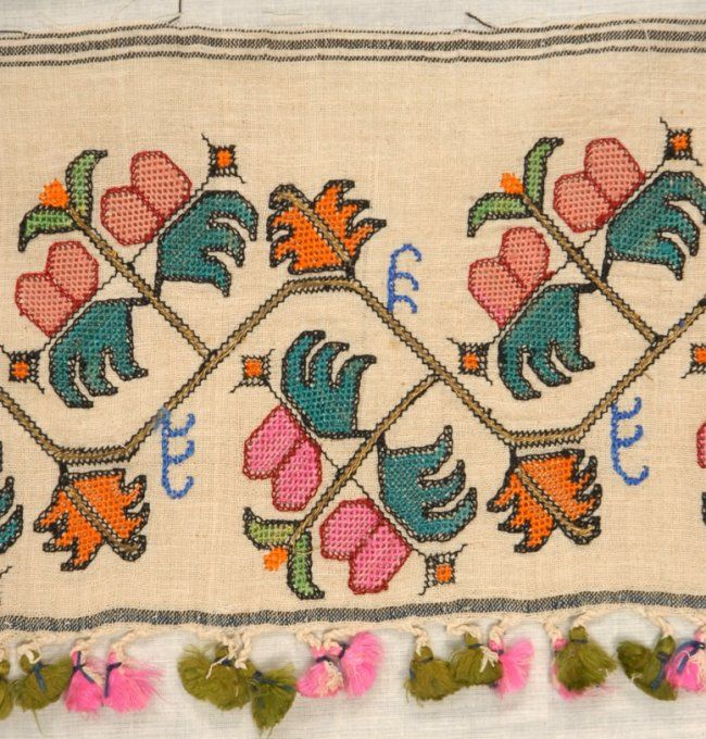TURKISH and GREEK ISLANDS EMBROIDERY FRAGMENTS, 1880 - : Lot 161