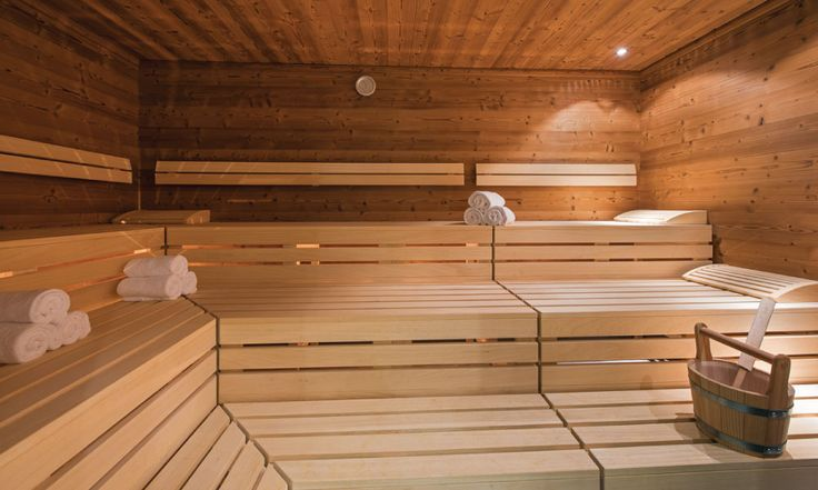 In chalet sauna for post skiing relaxation #sauna #relaxation #spa #luxurychalet #stanton